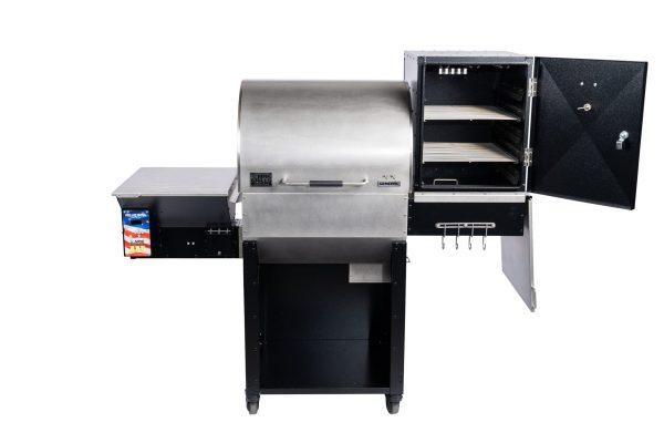 Two-Star General with Open Super Smoker Box with shelves
