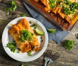 Smoked chicken enchiladas recipe from Mak Grills