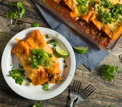 Smoked chicken enchiladas recipe from Mak Grills
