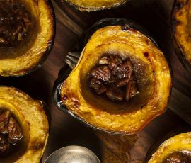 This is the Mak Grills Acorn Squash Recipe