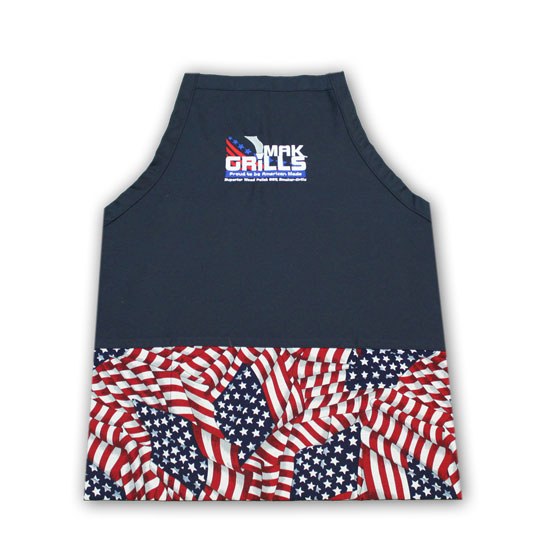 This Mak Grills accessory is a cool American Flag apron