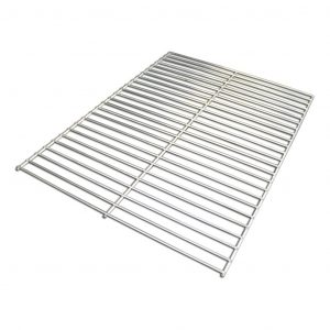Our Super Smoker Box Grates are stainless steel.
