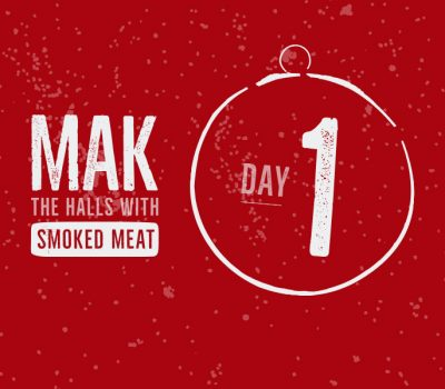 Smoked Ribs for the 1st day of the Mak 12 Days of Christmas recipes