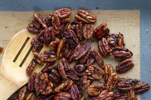 Pecans that go into the Maple Pecan Bacon Sundaes Recipe
