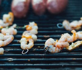 Tequila Marinated Jumbo Prawns On A Mak Grill
