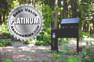 Best value platinum medal award from amazingribs.com given to Mak Grills.