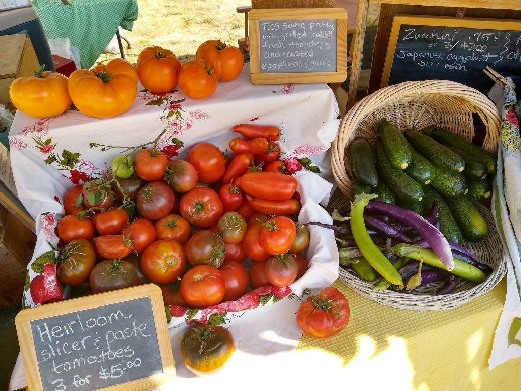 Shopping at the local farmers market can be fun and good for the local economy.