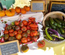 fresh vegetable display