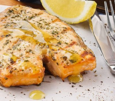 Salmon Steak with Citrus Glaze